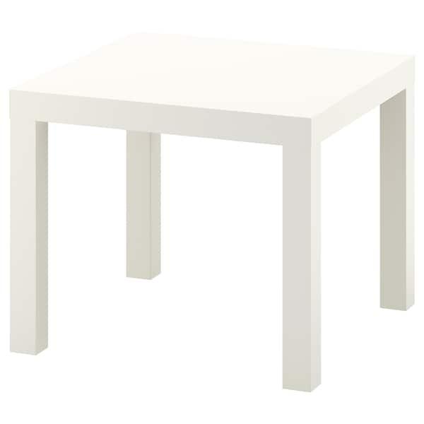 ЛАКК журнальний столик білий 55 см 55 см 45 см 25 кг