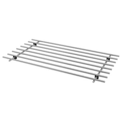 LÄMPLIG ЛЕМПЛІГ Підставка під гаряче, нержавіюча сталь, 50x28 см