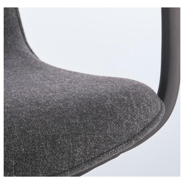 ЛОНГФЬЄЛЛЬ офісний стілець з підлокітником ГУННАРЕД темно-сірий/чорний 110 кг 68 см 68 см 92 см 53 см 41 см 43 см 53 см