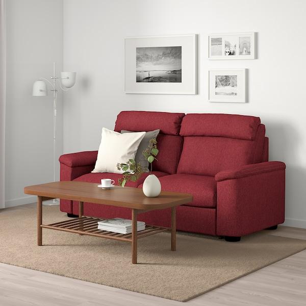 ЛІДХУЛЬТ 2-місний диван-ліжко ЛЕЙДЕ червоно-коричневий 102 см 76 см 208 см 98 см 7 см 53 см 45 см 140 см 200 см