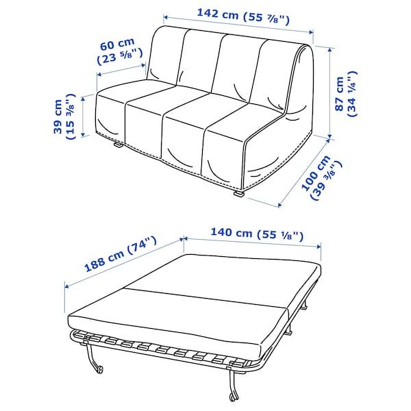 LYCKSELE HÅVET ЛЮККСЕЛЕ ХОВЕТ 2-місний диван-ліжко, ВАНСБРУ темно-сірий