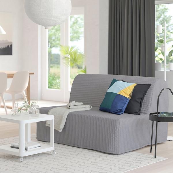 LYCKSELE LÖVÅS ЛЮККСЕЛЕ ЛЕВОС 2-місний диван-ліжко, КНІСА світло-сірий