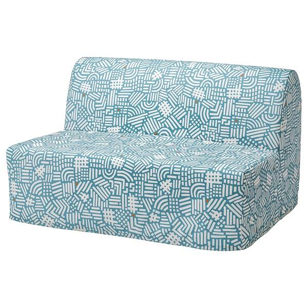 LYCKSELE LÖVÅS ЛЮККСЕЛЕ ЛЕВОС 2-місний диван-ліжко, ТУТСТАД різнобарвний