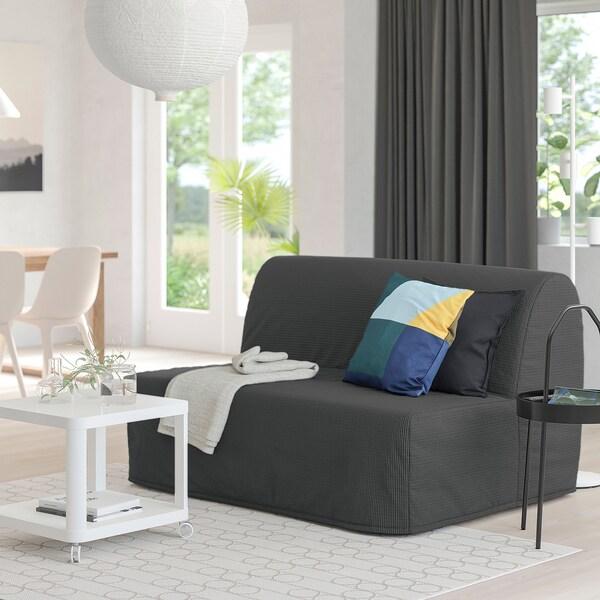 LYCKSELE LÖVÅS ЛЮККСЕЛЕ ЛЕВОС 2-місний диван-ліжко, ВАНСБРУ темно-сірий