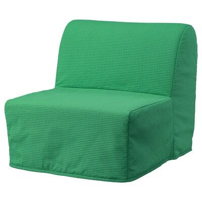 LYCKSELE LÖVÅS ЛЮККСЕЛЕ ЛЕВОС Крісло-ліжко, ВАНСБРУ яскраво-зелений