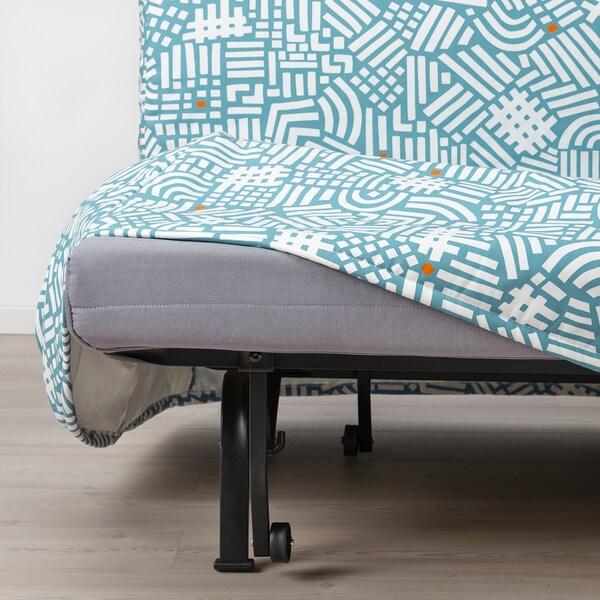 LYCKSELE MURBO ЛЮККСЕЛЕ МУРБУ 2-місний диван-ліжко, ТУТСТАД різнобарвний