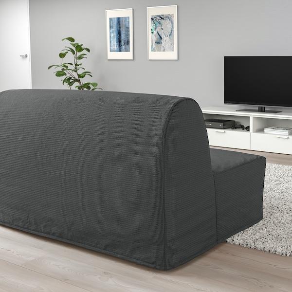 LYCKSELE MURBO ЛЮККСЕЛЕ МУРБУ 2-місний диван-ліжко, ВАНСБРУ темно-сірий