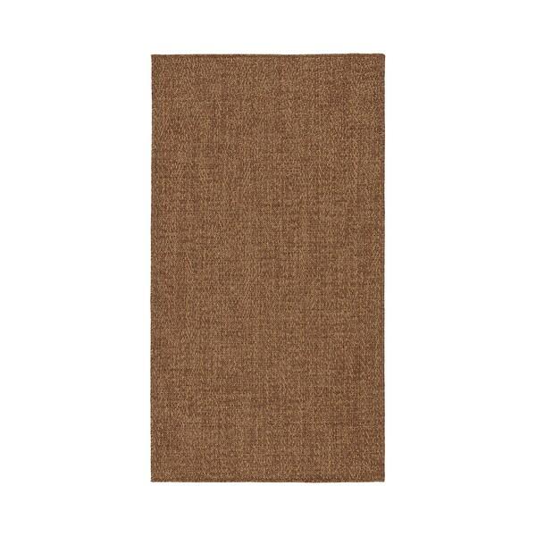 LYDERSHOLM ЛЮДЕРСХОЛЬМ Килим, пласке плетіння, приміщ/вул, класичний коричневий, 80x150 см