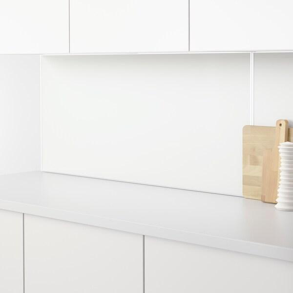 LYSEKIL ЛІСЕКІЛ Настінна панель, двобічний білий/світло-сірий під бетон, 119.6x55 см