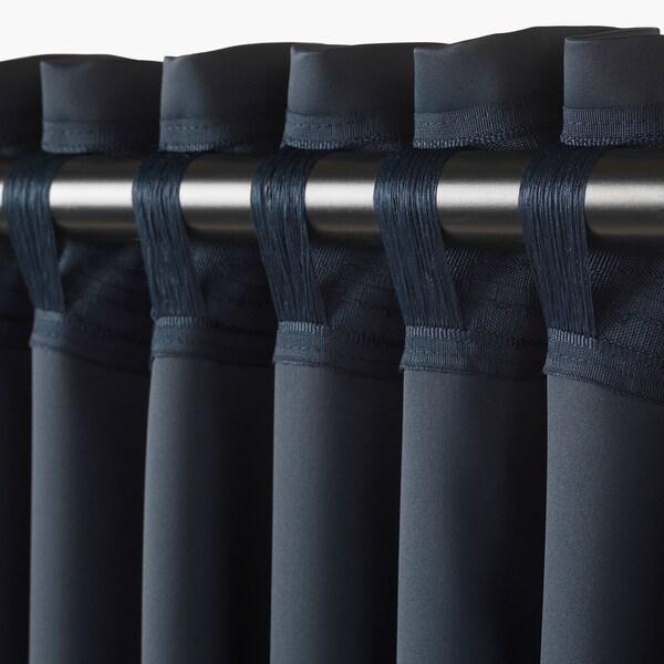 МАЙГУЛЛЬ затемнювальні штори, 1 пара темно-синій 300 см 145 см 2.50 кг 4.35 м² 2 штук