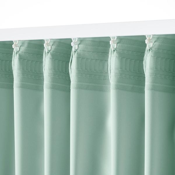 MAJGULL МАЙГУЛЛЬ Світлонепроникні штори, пара, світло-зелений, 145x300 см