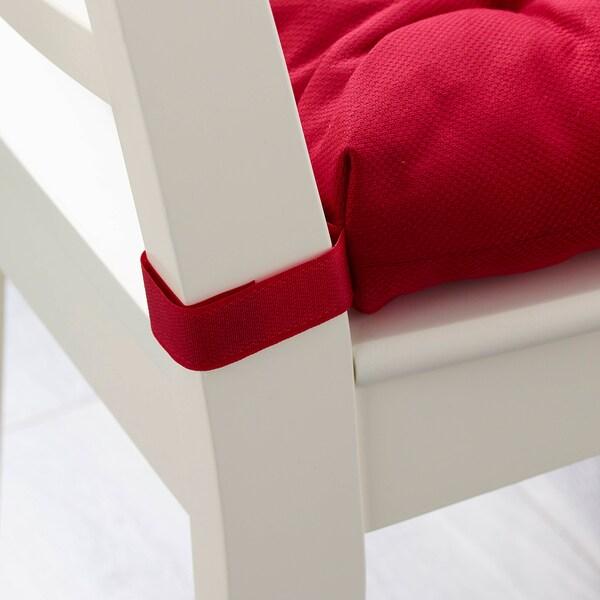 МАЛІНДА подушка на стілець червоний 35 см 40 см 38 см 7 см 330 г 460 г