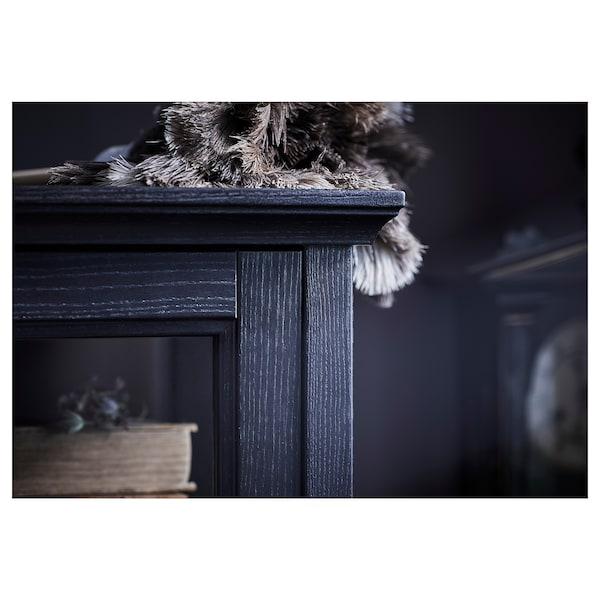 МАЛЬШЕ шафа зі скляними дверцятами чорна морилка 103 см 48 см 141 см 35 кг