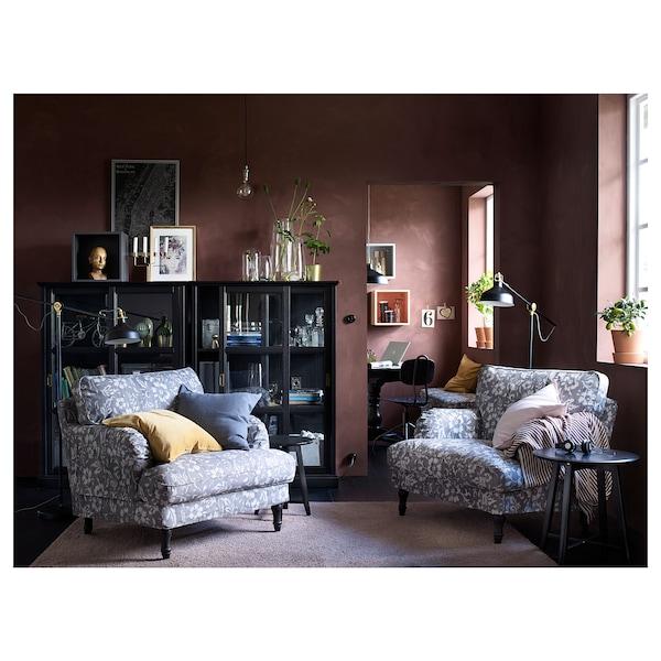 MALSJÖ МАЛЬШЕ Шафа зі скляними дверцятами, чорна морилка, 103x48x141 см