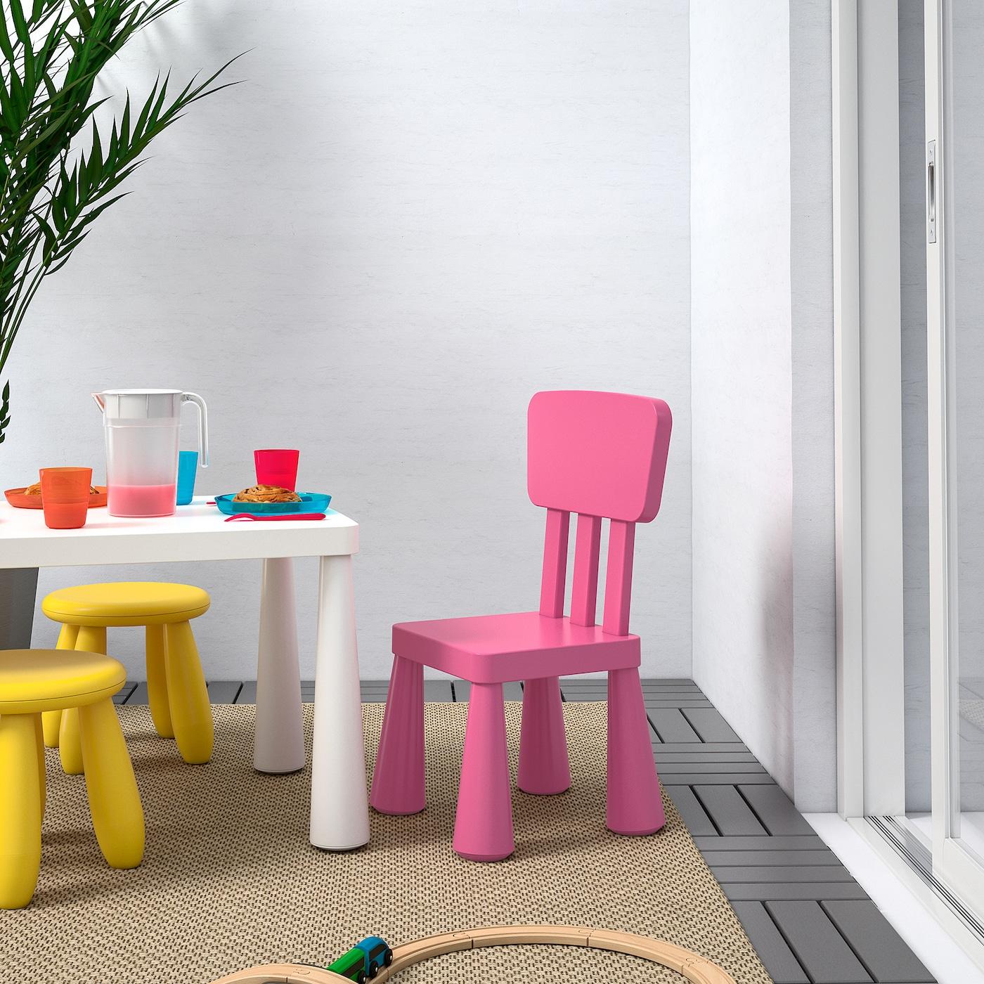 МАММУТ дитячий стілець для приміщення/вулиці/рожевий 39 см 36 см 67 см 26 см 30 см