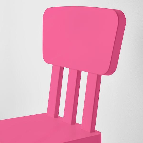 MAMMUT МАММУТ Дитячий стілець, для приміщення/вулиці/рожевий