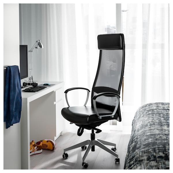 МАРКУС офісний стілець ГЛОСЕ чорний 110 кг 62 см 60 см 129 см 140 см 53 см 47 см 46 см 57 см