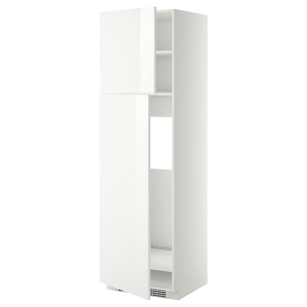 METOD МЕТОД Висока шафа для холодильника, 2 дв, білий/РІНГХУЛЬТ білий, 60x60x200 см