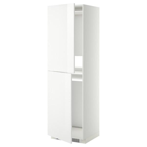 METOD МЕТОД Висока шафа для холодильнка/морозил, білий/РІНГХУЛЬТ білий, 60x60x200 см