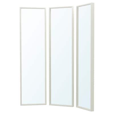 NISSEDAL НІССЕДАЛЬ Дзеркальна комбінація, білий, 130x150 см