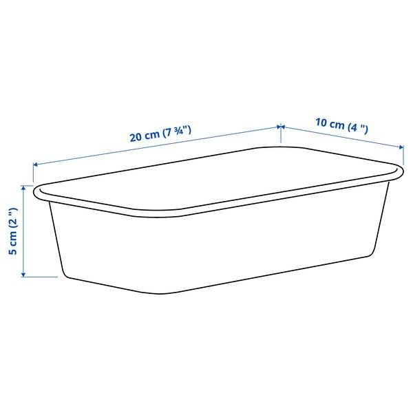 NOJIG НОЙІГ Органайзер, пластик/бежевий, 10x20x5 см
