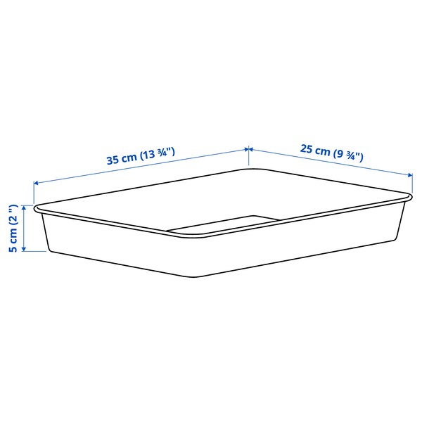 NOJIG НОЙІГ Органайзер, пластик/бежевий, 25x35x5 см