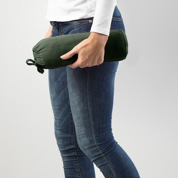ODDHILD ОДДХІЛЬД Плед, насичений зелений, 120x170 см