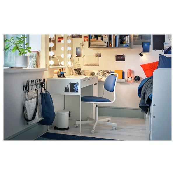 ОРФЬЄЛЛЬ обертовий стілець білий/ВІССЛЕ синій 110 кг 68 см 68 см 94 см 49 см 43 см 46 см 58 см
