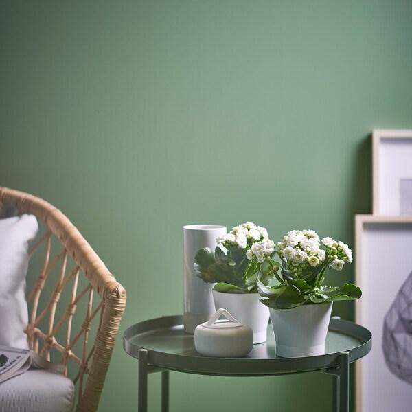 PAPAJA ПАПАЙЯ Кашпо, білий, 9 см