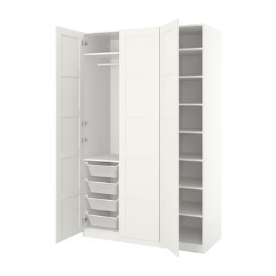 PAX ПАКС Гардероб, білий/БЕРГСБУ білий, 150x60x236 см