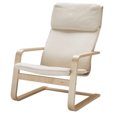 ПЕЛЛО крісло ХОЛЬМБЮ натуральний 67 см 85 см 96 см 55 см 50 см 37 см