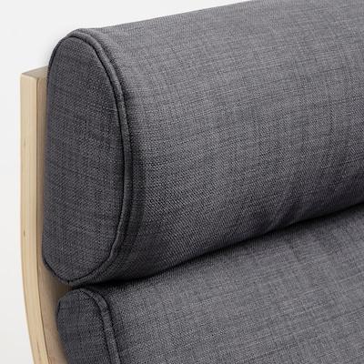 POÄNG ПОЕНГ Подушка для крісла, СКІФТЕБУ темно-сірий