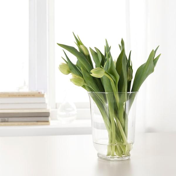 ПОМП ваза/ліхтар прозоре скло 18 см 14 см