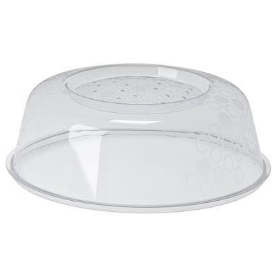 PRICKIG ПРІККІГ Кришка для мікрохвильової печі, сірий, 26 см