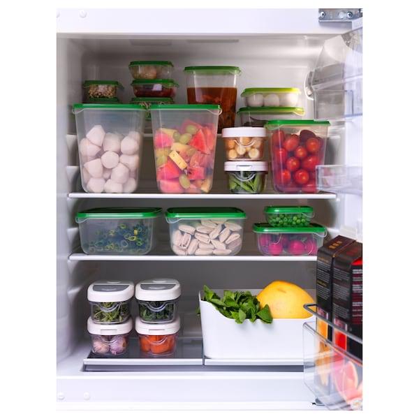 ПРУТА харчовий контейнер, набір 17 шт. прозорий/зелений