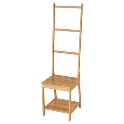 РОГРУНД стілець із вішаком для рушників бамбук 39 см 44 см 140 см