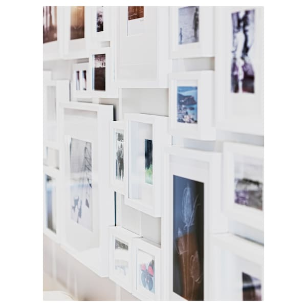 RIBBA РІББА Рамка, білий, 40x50 см