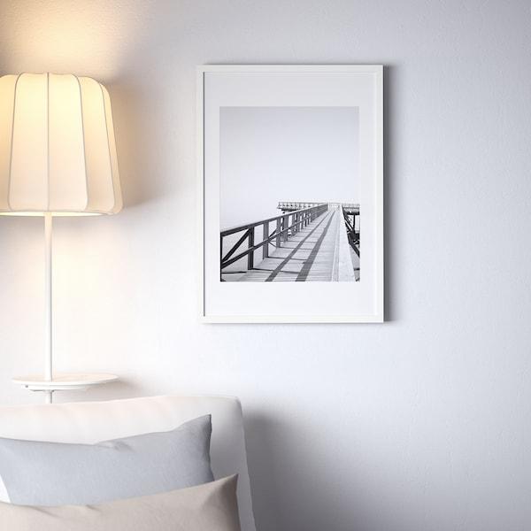 RIBBA РІББА Рамка, білий, 50x70 см