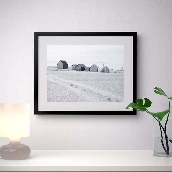 RIBBA РІББА Рамка, чорний, 40x50 см