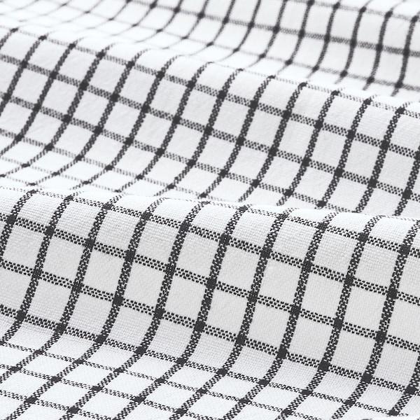 RINNIG РІННІГ Рушник кухонний, білий/темно-сірий/із малюнком, 45x60 см