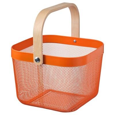 RISATORP РІСАТОРП Кошик, помаранчевий, 25x26x18 см