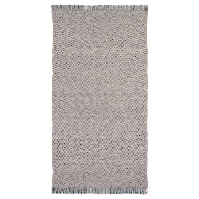 RÖRKÄR РЕРКЕР Килим, пласке плетіння, чорний/натуральний, 80x150 см