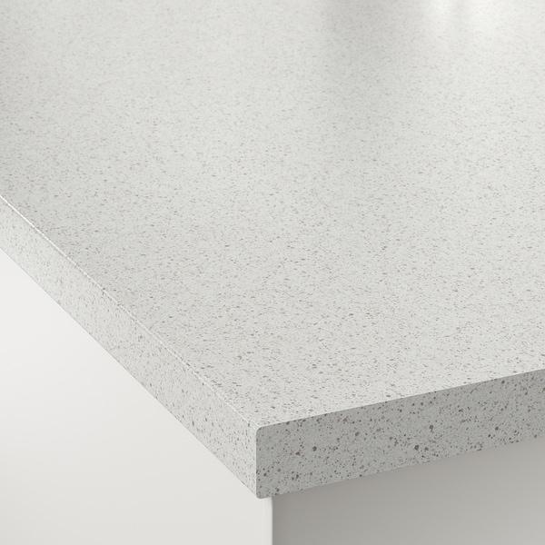 SÄLJAN СЕЛЬЙАН Стільниця, білий під камінь/ламінат, 246x3.8 см