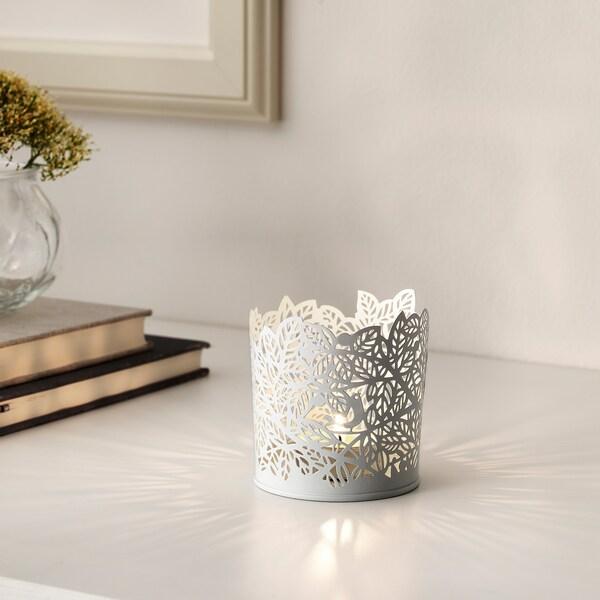 САМВЕРКА підсвічник для свічки-таблетки білий 8 см 8 см