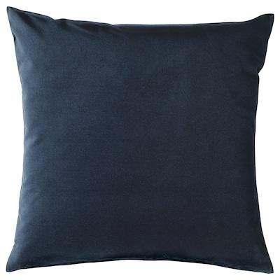 SANELA САНЕЛА Чохол для подушки, темно-синій, 50x50 см