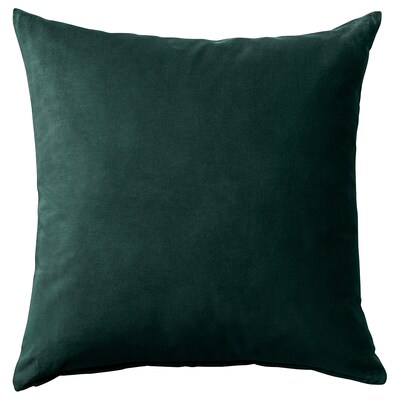САНЕЛА чохол для подушки  темно-зелений 50 см 50 см