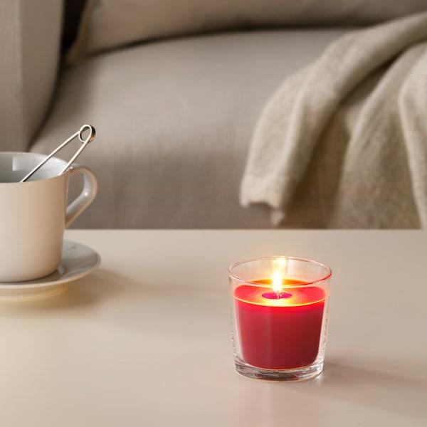 СІНЛІГ свічка ароматична у склянці Червоні садові ягоди/червоний 7.5 см 25 Години