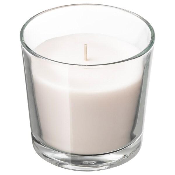 СІНЛІГ свічка ароматична у склянці Солодка ваніль/натуральний 9 см 40 Години