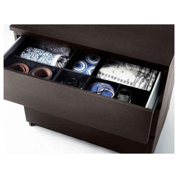 СКУББ коробка, набір із 6 шт. чорний