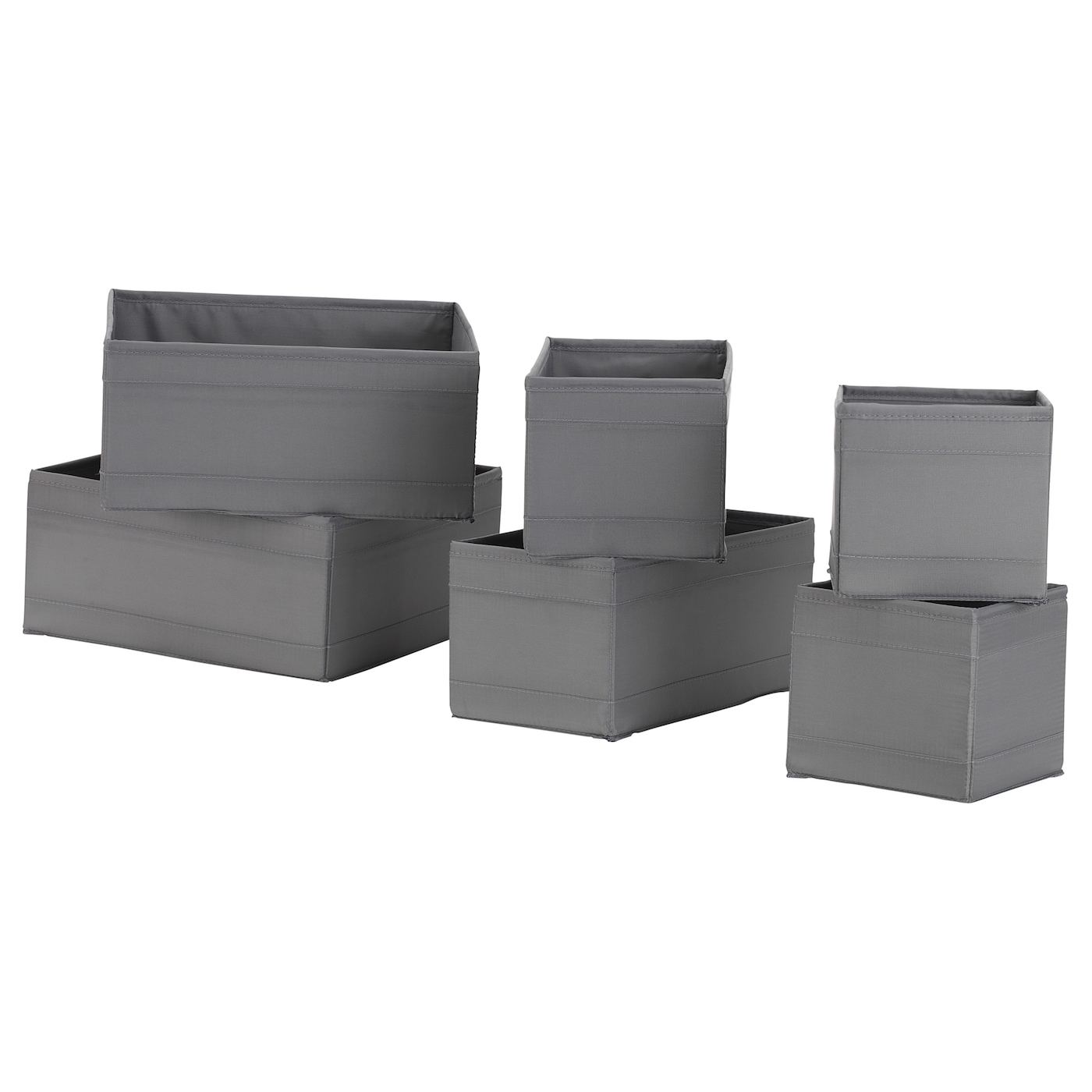 SKUBB СКУББ Коробка, набір із 6 шт. - темно-сірий